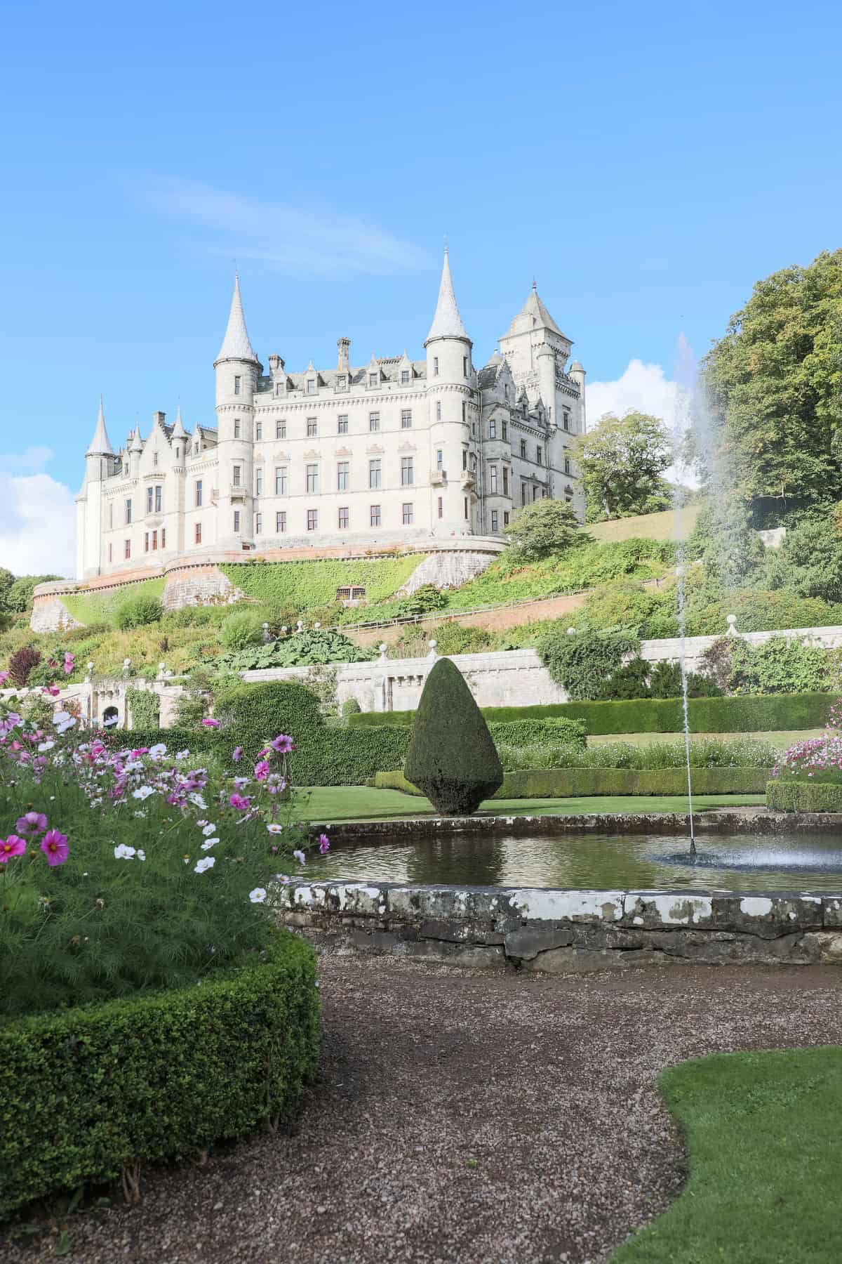 Water feature in front of Dunrobin Castle