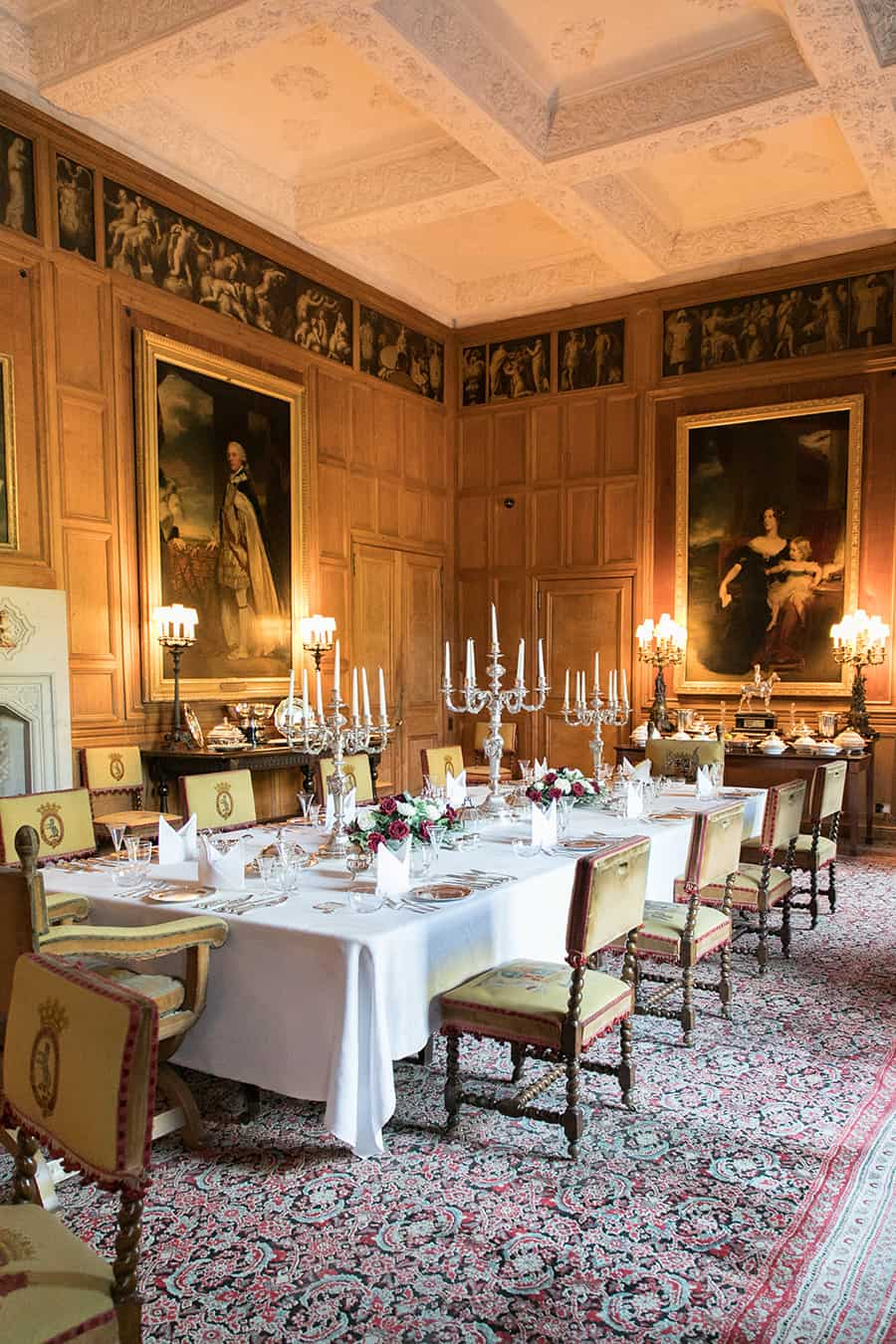 Interior picture of the dining room at Dunrobin Castle
