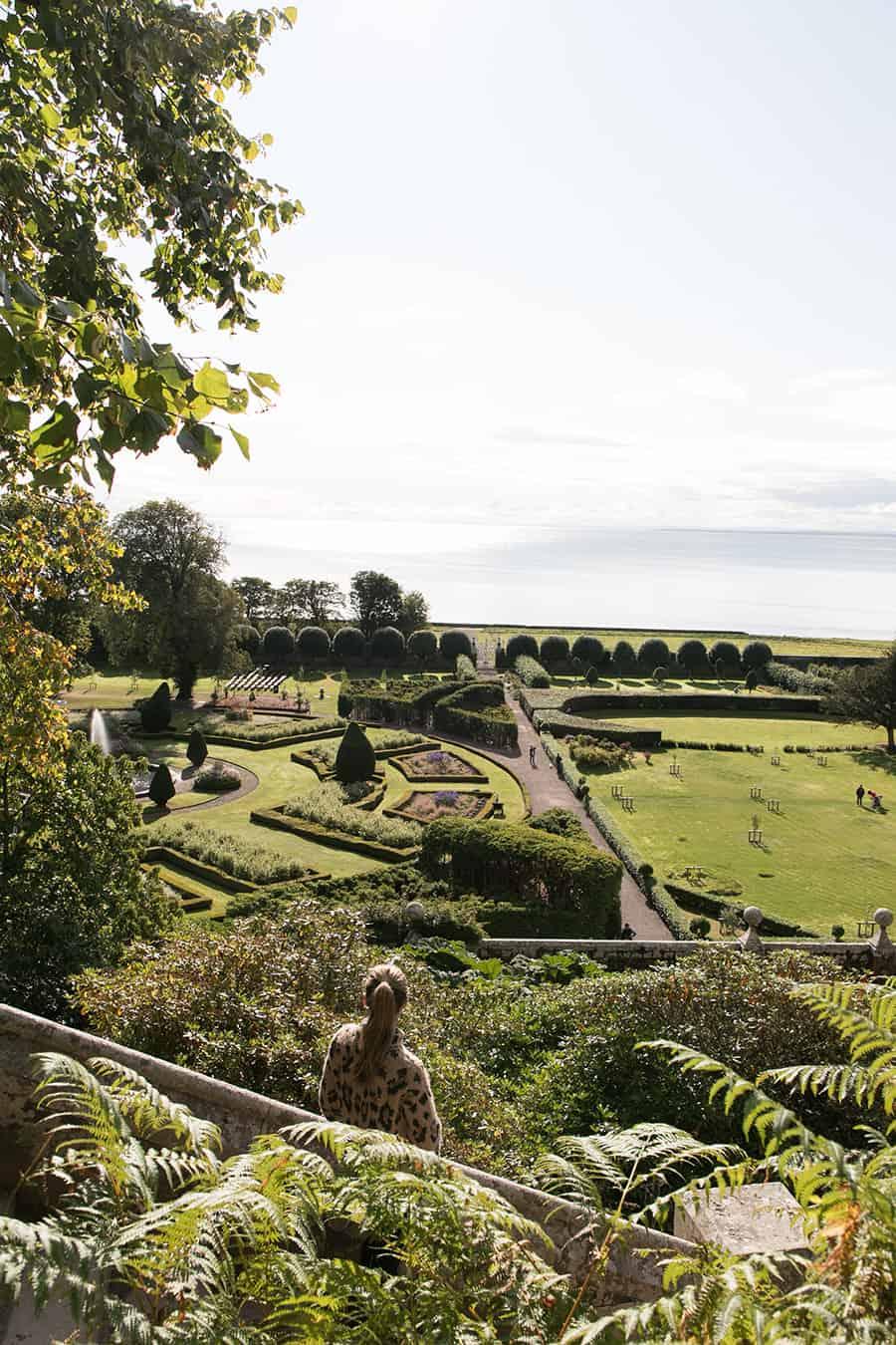 The garden at Dunrobin Castle