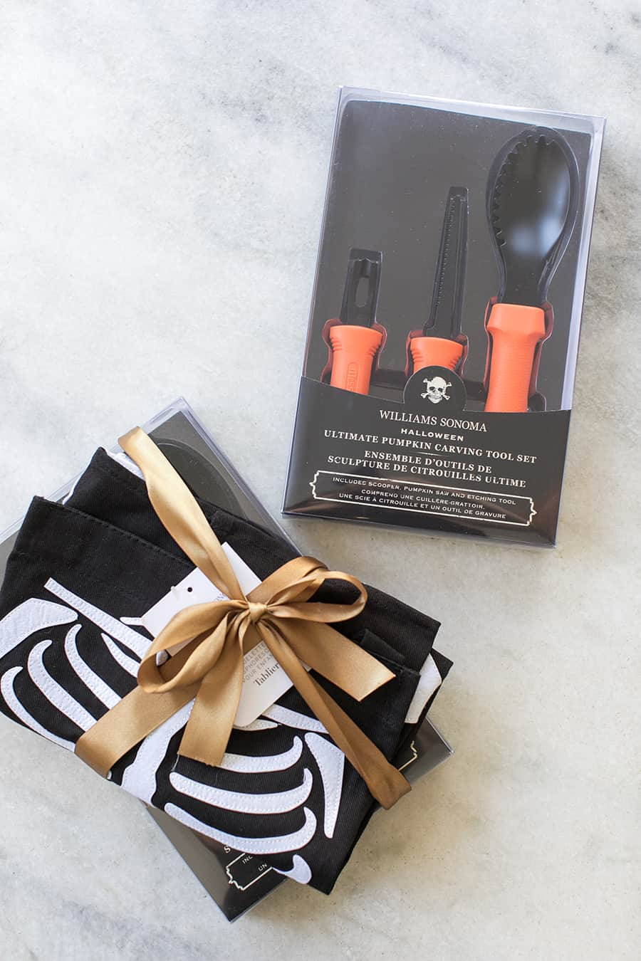 shot of pumpkin carving kit from williams sonoma