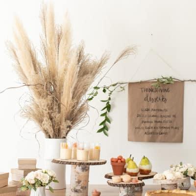 DIY Thanksgiving Dessert Table