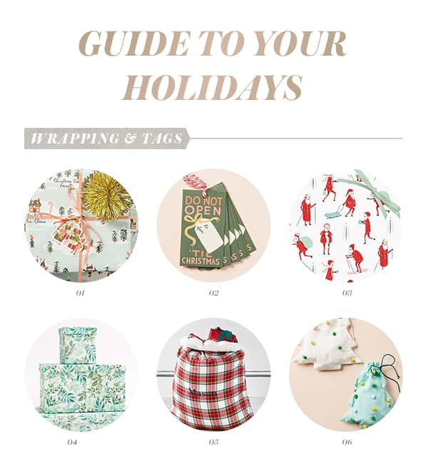 A guide to Christmas Decorations with a round up of Christmas wrapping paper and Christmas tags.