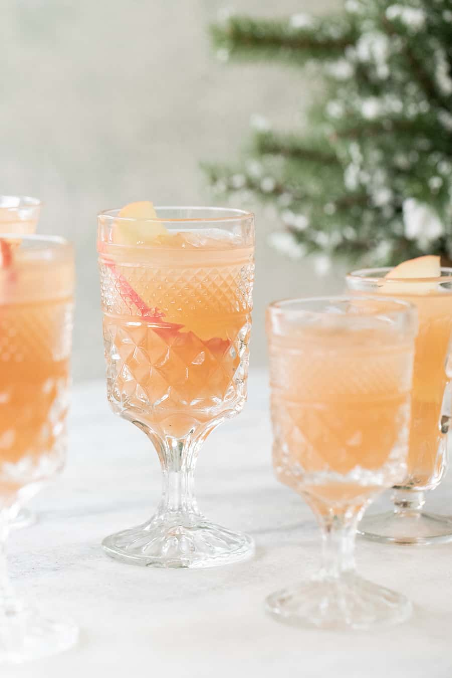 Glasses filled with holiday punch