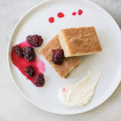 Brown Sugar Cake with Creme Fraiche