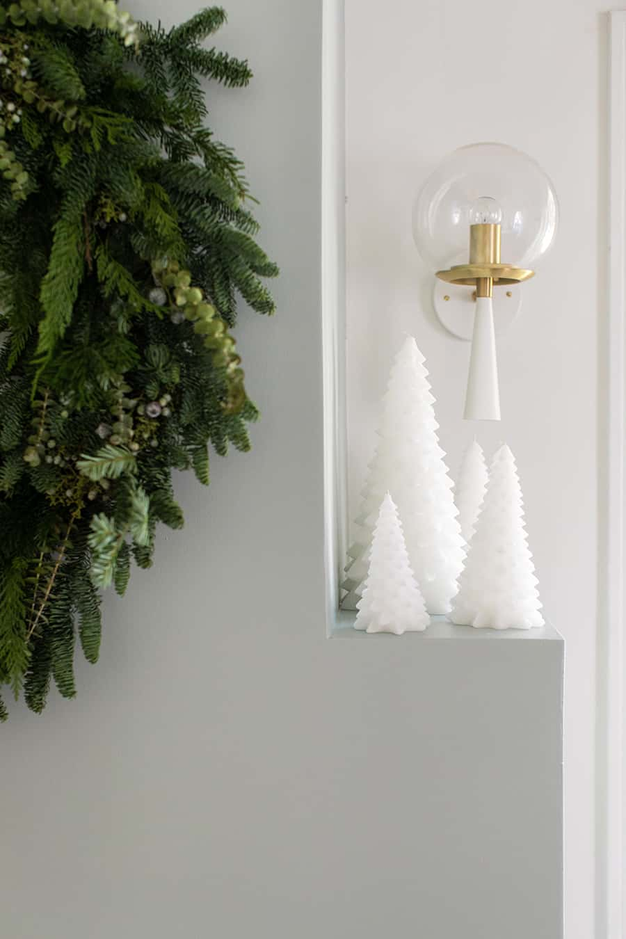 e4914597fe8 The large white Christmas tree candles are also a favorite that I use every  year. They re instant decor!