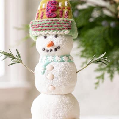 Gingerbread Snowman Cake