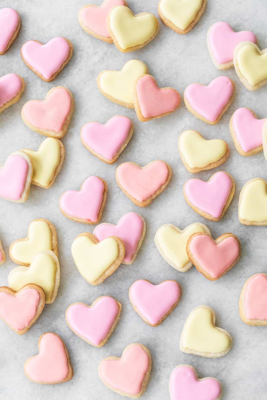 Frosted Mini Heart Shaped Sugar Cookies