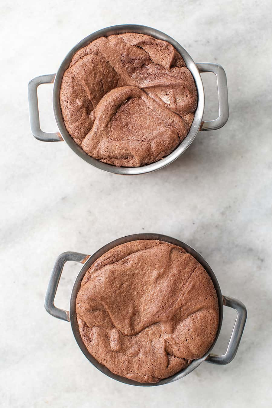 Chocolate Soufflé in min pots