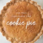 Chocolate Chip Cookie pie Picture with Graphic
