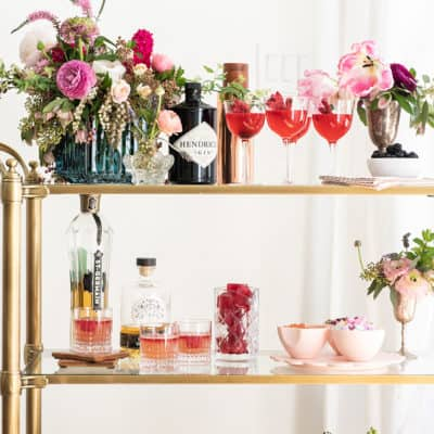 A Romantic Gin and Flower Bar