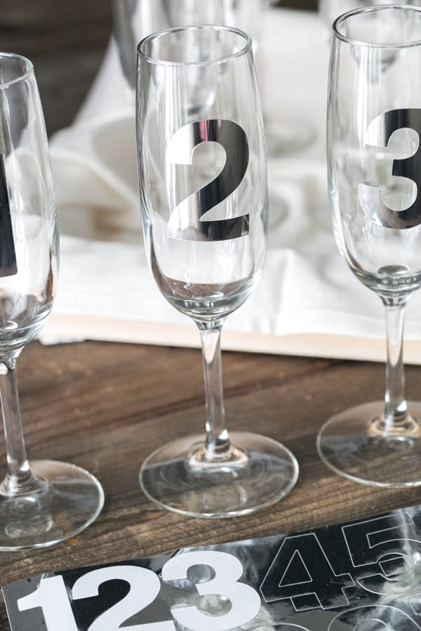 Countdown glasses for New Years Eve
