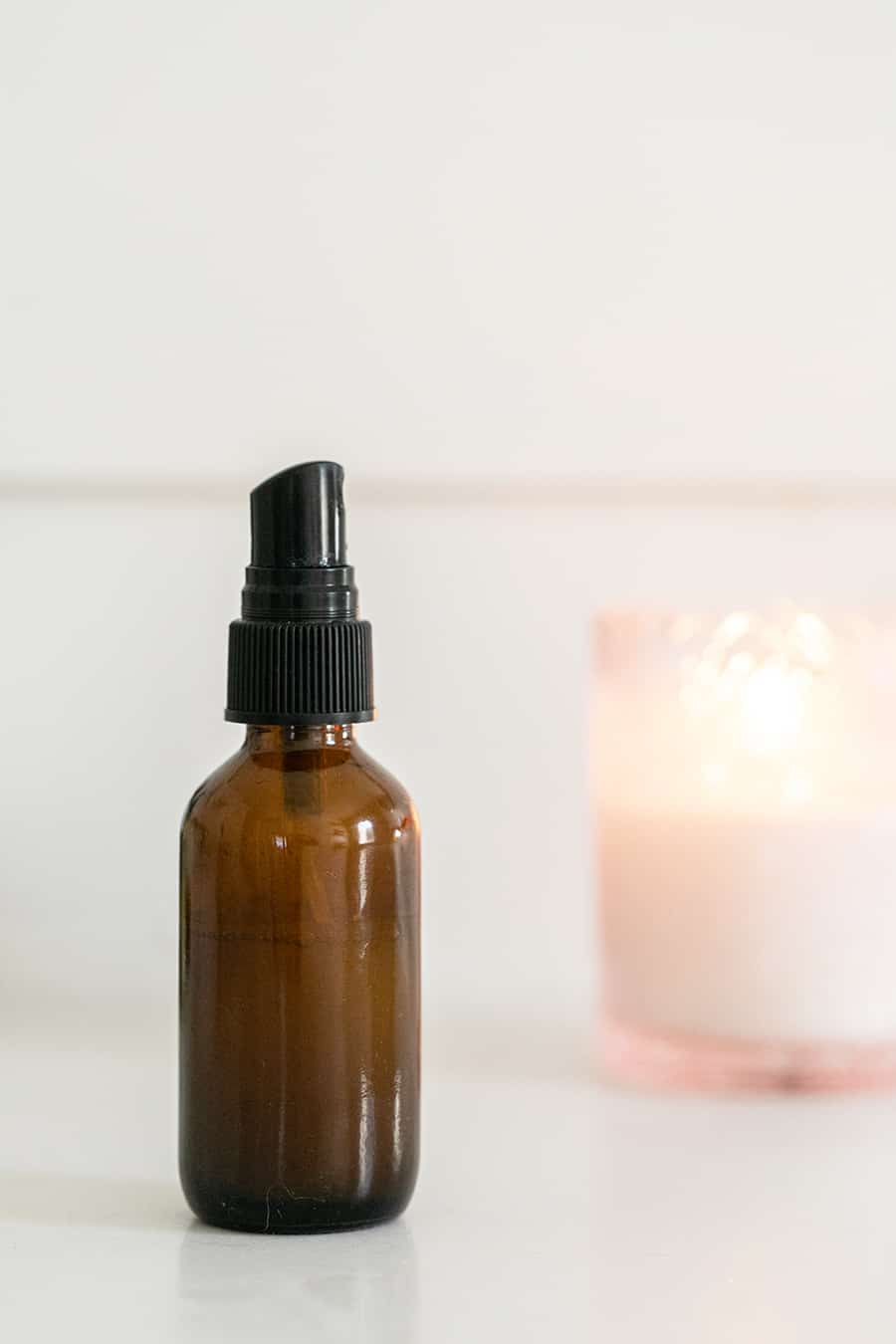 Small Amber Bottle with DIY Lavender Linen Spray