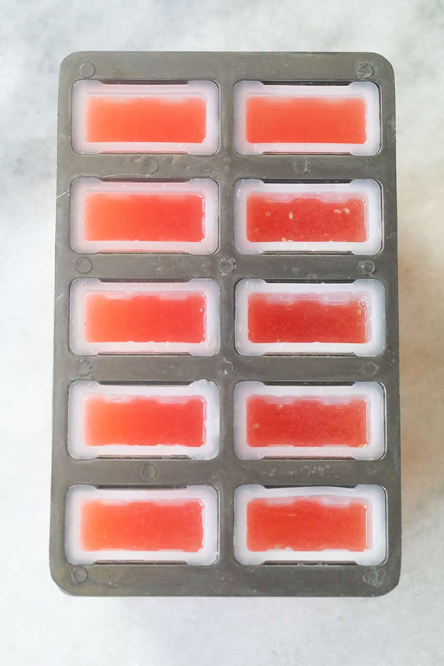 homemade popsicles in a popsicle mold