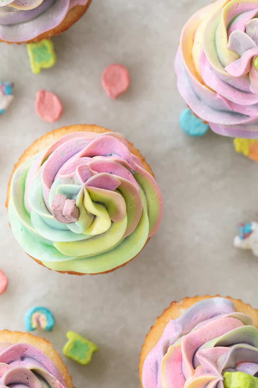 Vanilla Lucky Charms cupcake recipe