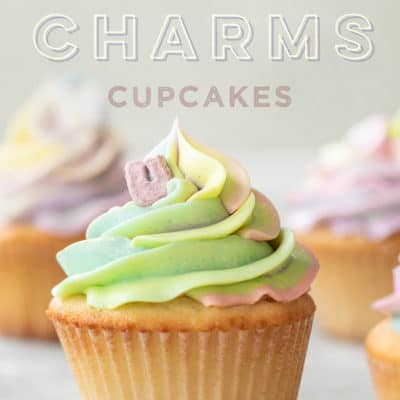 Magical Lucky Charms Cupcakes