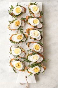 Hard Boiled Egg Crostini Recipe