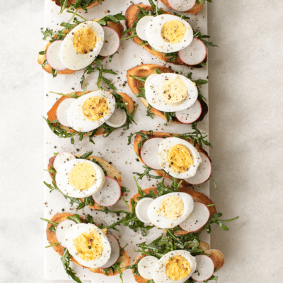 Hard Boiled Egg Crostini Recipe