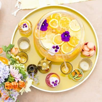 Pineapple Orange party punch with orange, pineapple and ginger beer