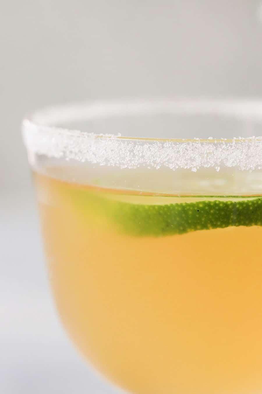 Close up photo of a three Ingredient Classic Daiquiri