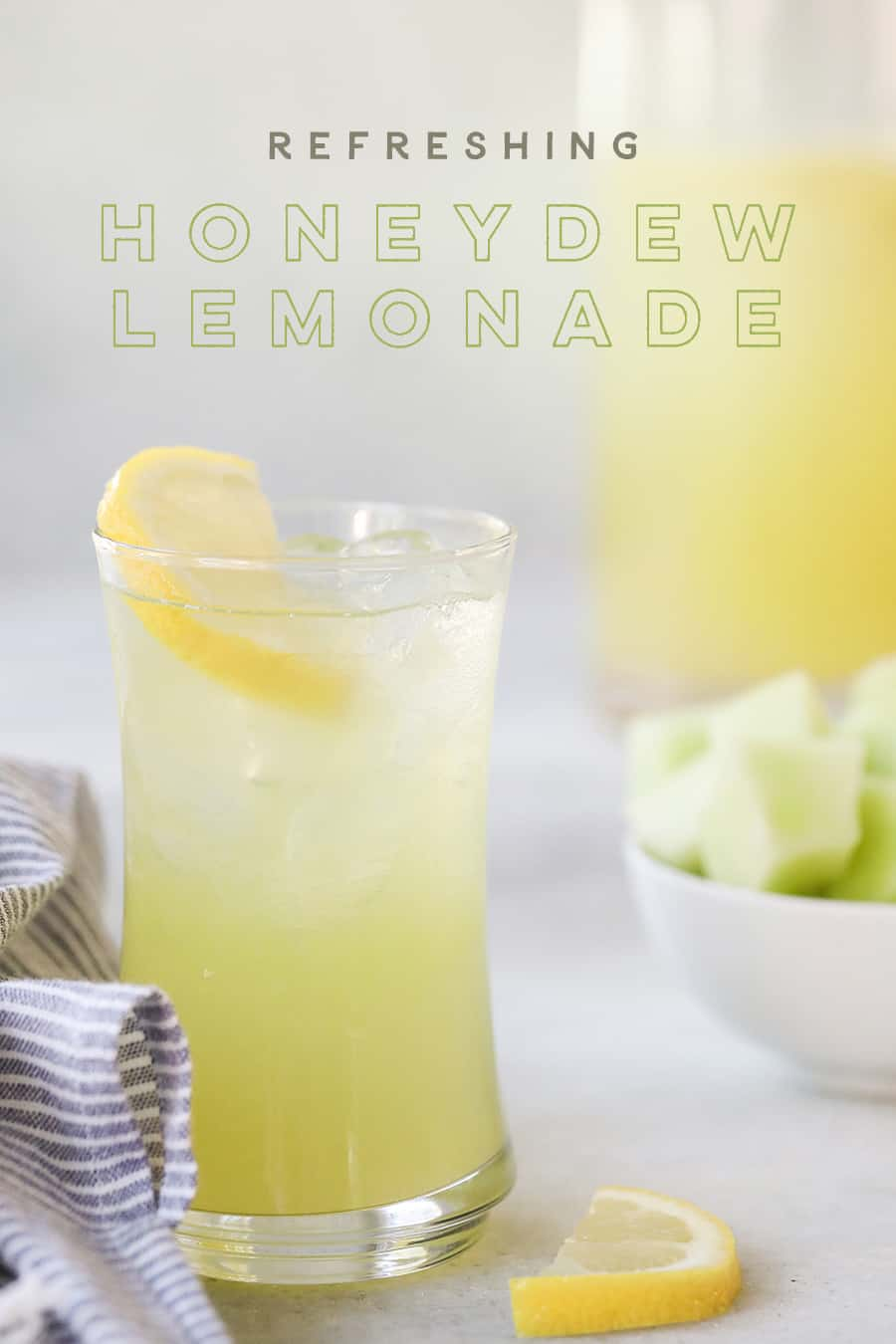 Glass of Honeydew Lemonade