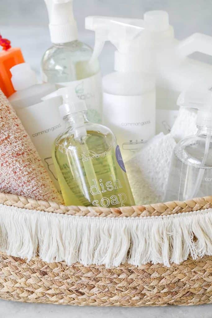 Gift a DIY cleaning kit filled with natural products for a housewarming party.