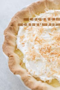 Homemade Coconut Cream Pie with Shortbread Cookie Crust!