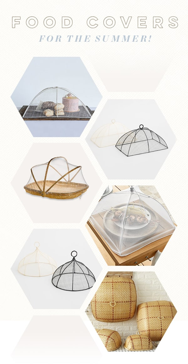 guide to charming food covers to keep bugs out.