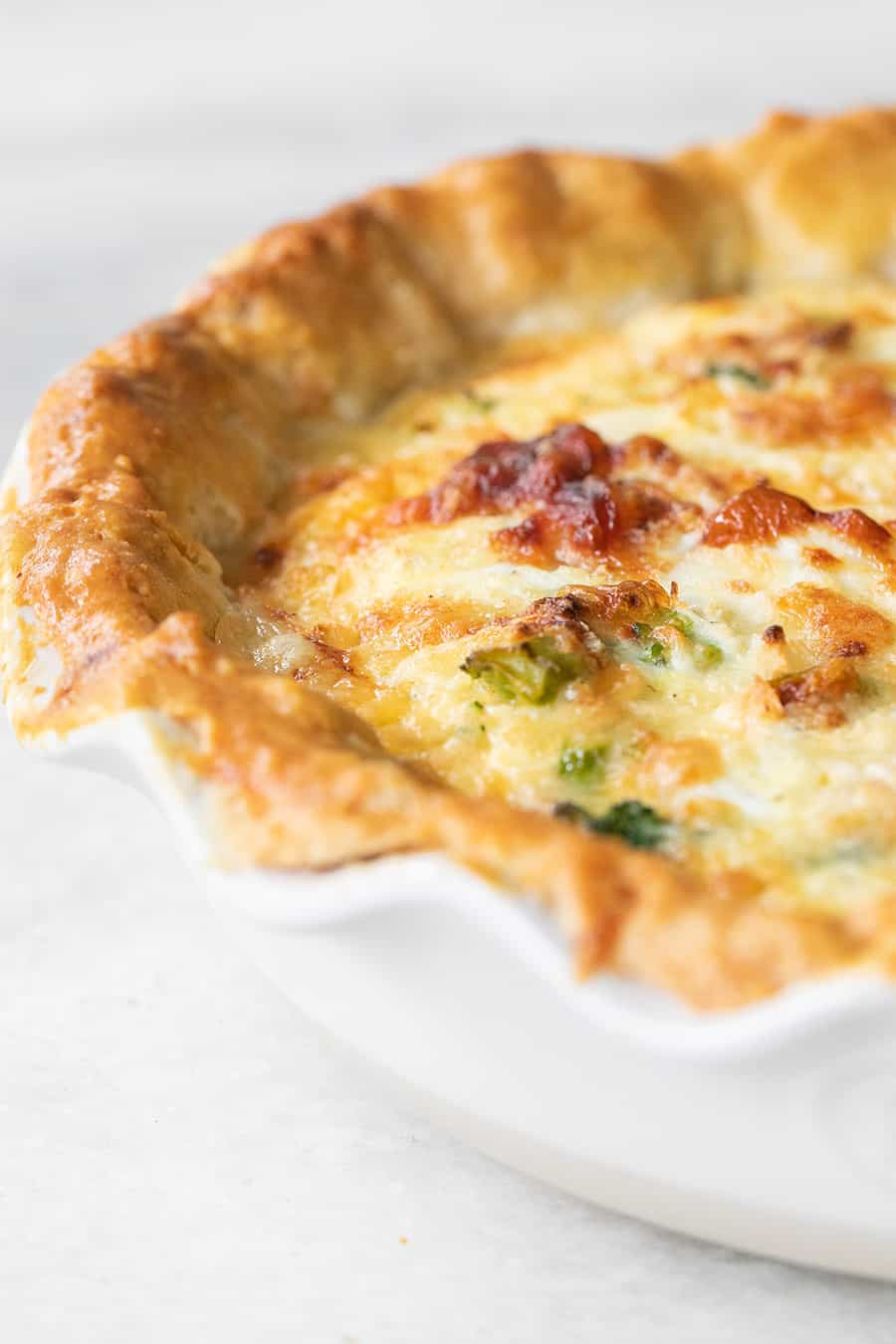 close up of the best quiche recipe