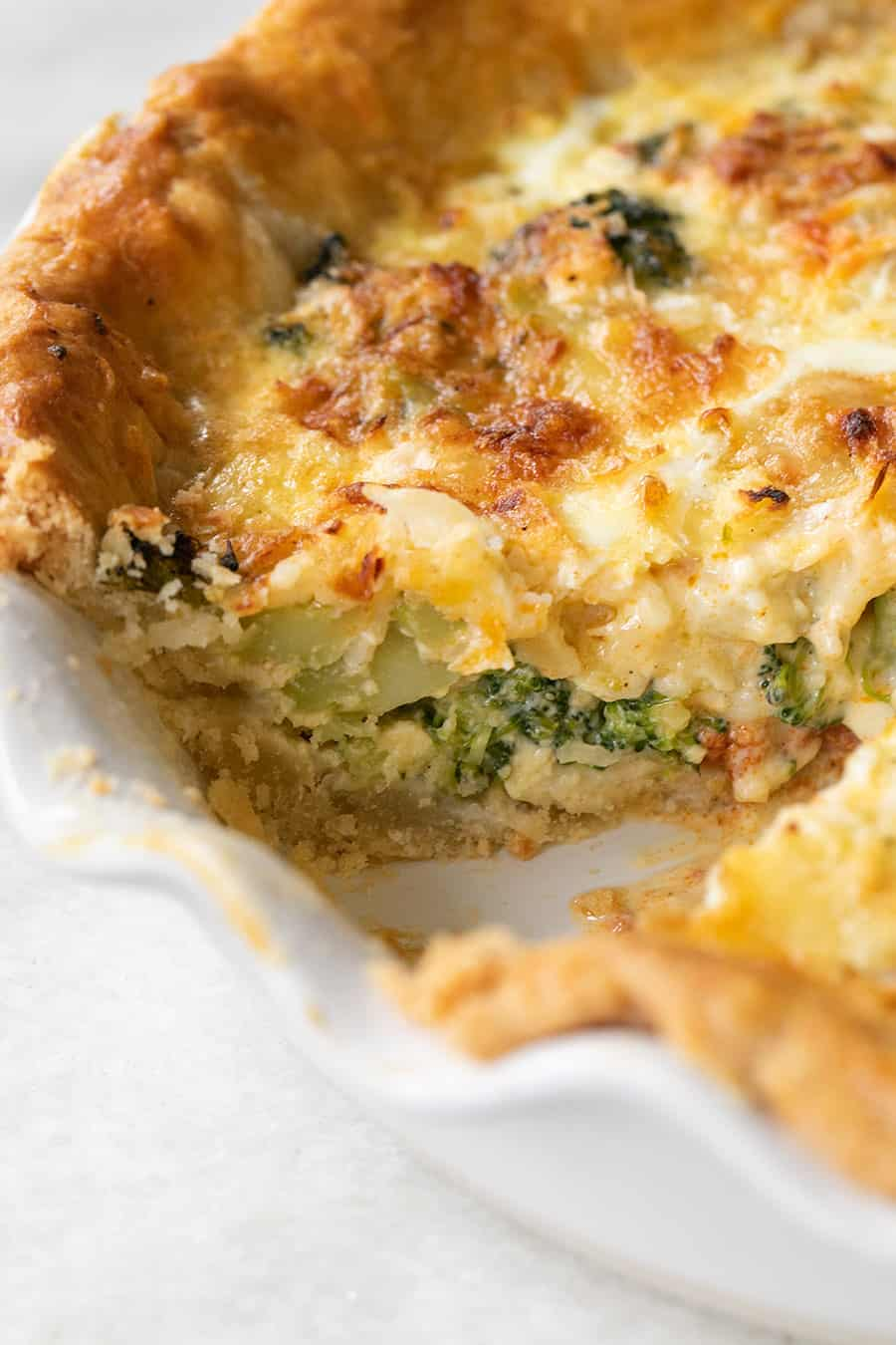 inside of a quiche