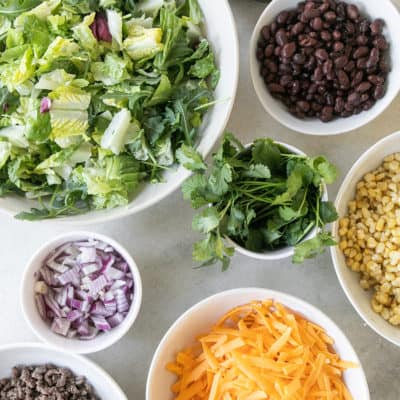 Ingredients for a Taco Salad
