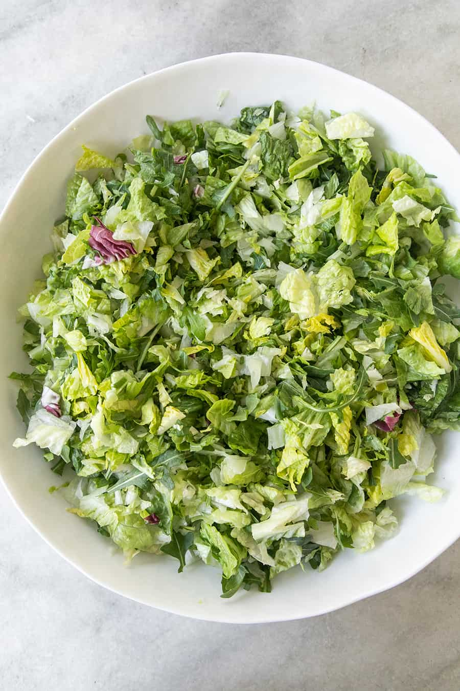 Lettuce in a white bowl