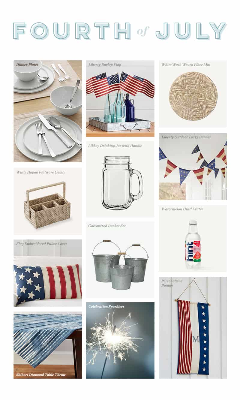 4th of july shopping guide graphic