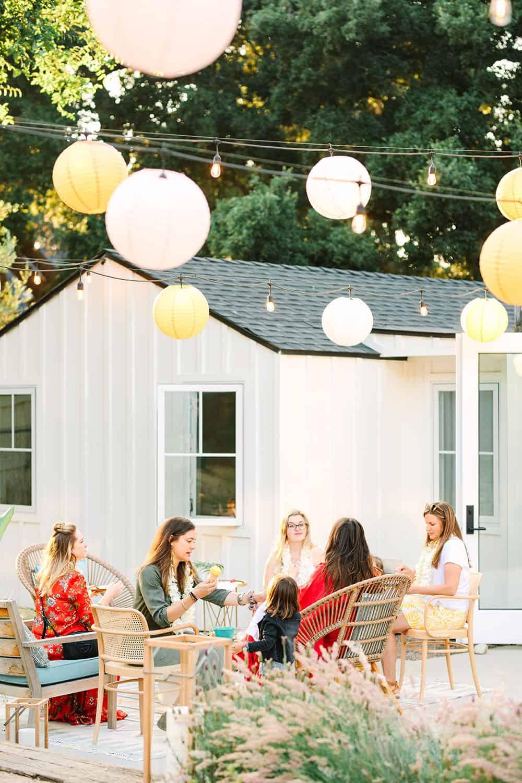 Paper lanterns for a backyard party