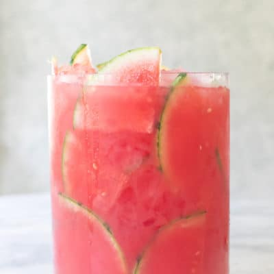 Watermelon Juice garnished with slices of watermelon