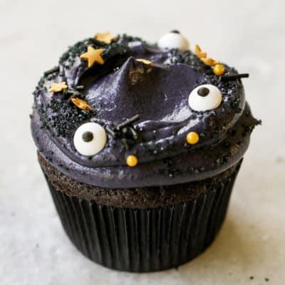 Black Velvet Cupcakes for Halloween