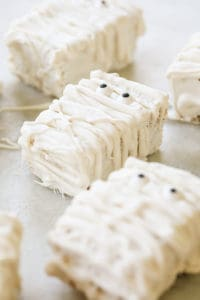 Brown Butter Mummy Rice Krispie Treats!