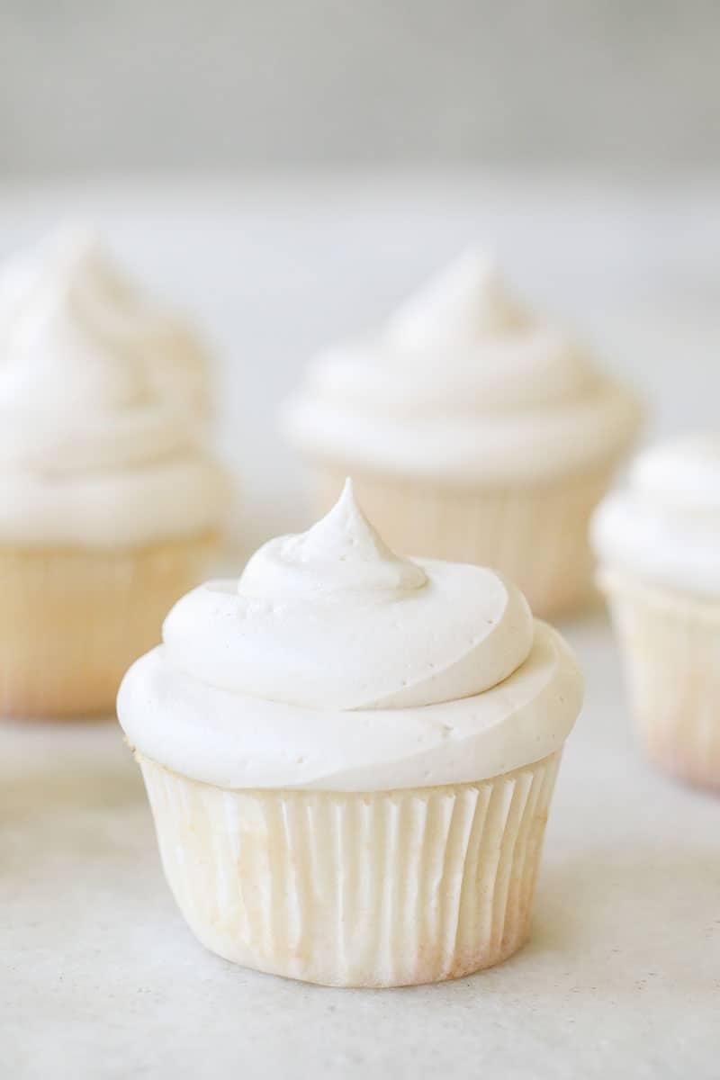 A classic vanilla cupcake with vanilla buttercream.