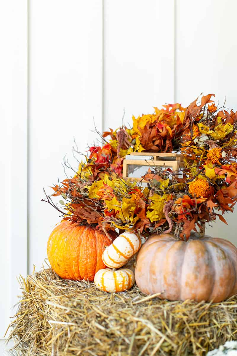 Fall porch wreath