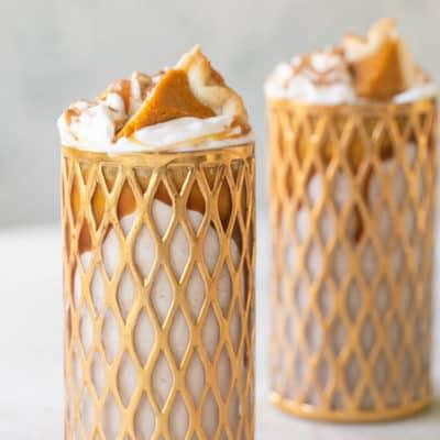 Pumpkin Pie Milkshake Recipe with Bourbon!