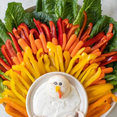 Colorful Thanksgiving Vegetable Platter for Kids!
