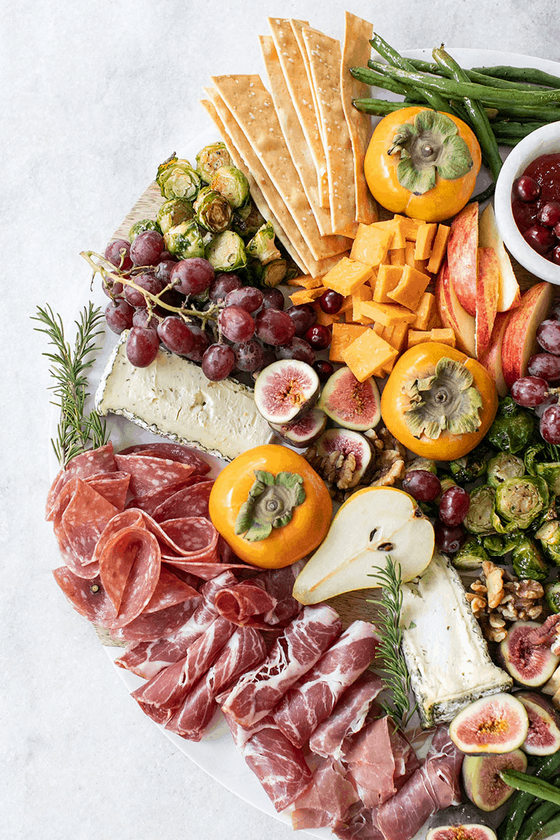 Thanksgiving appetizer platter.