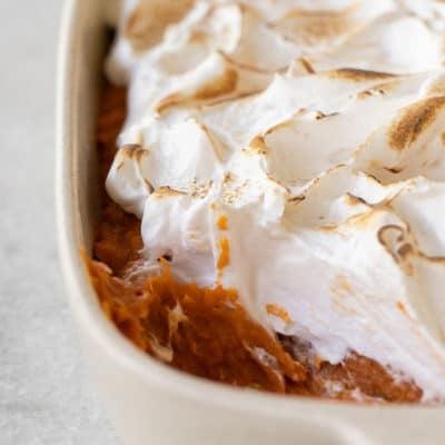 Sweet Potato Casserole with Marshmallow Fluff