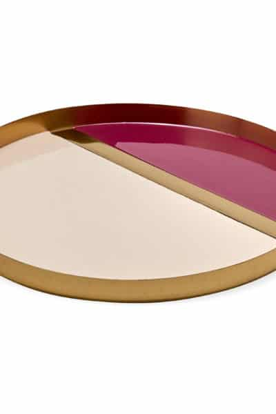 decorate pink and gold tray