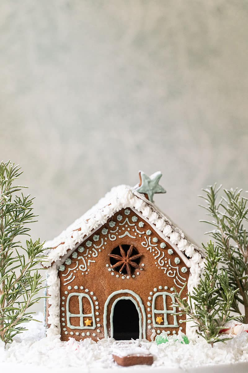 Adorable and charming gingerbread house.
