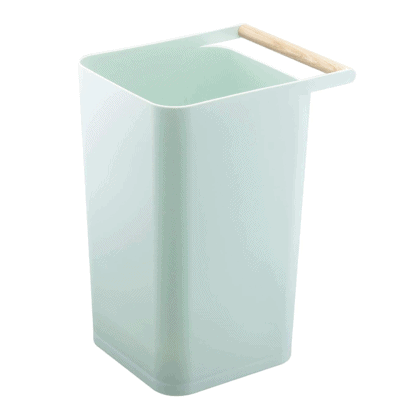 modern trash can