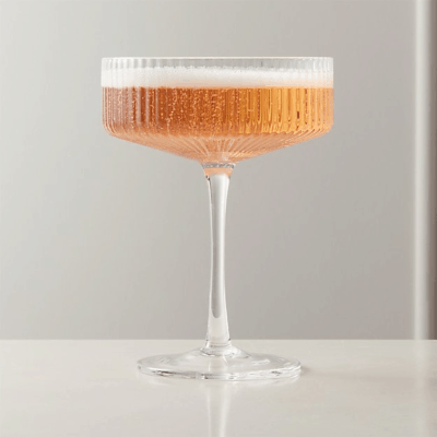 Fancy coupe cocktail glass