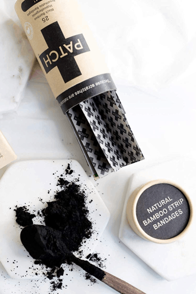 Bandage with activated charcoal