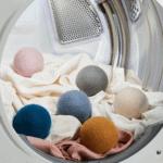 wool dryer balls in dryer