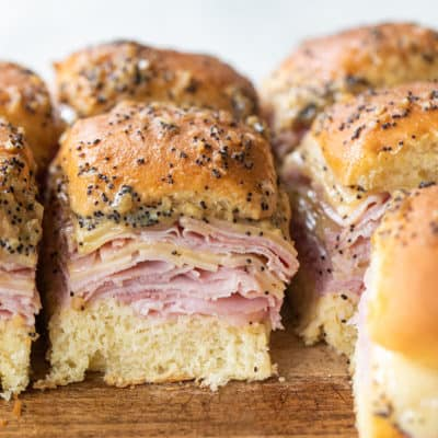 Ham and Cheese Sliders on Hawaiian Rolls!