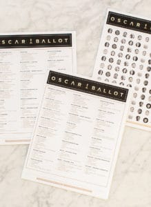 Sugar and Charm Oscar Ballot and Confetti!